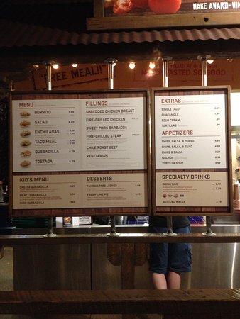 Cafe Rio Menu Glendale Co