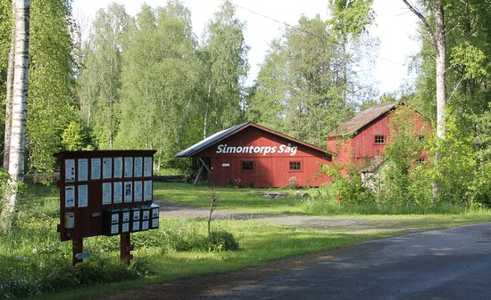Glimakra, Sweden: Simontorps Såg. Place of departure for the guided tours in Simontorp