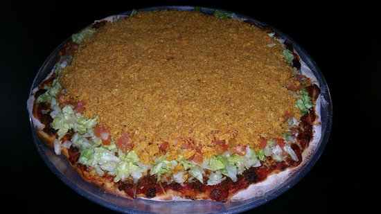 Adair, IA: Taco pizza.