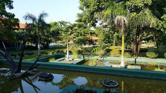 Yapahuwa, Sri Lanka: Schön angelegter Brunnen und Wasserlandschaft