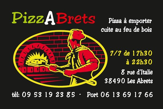 PizzAbrets Carte De Visite Votre Pizzeria Aux Abrets