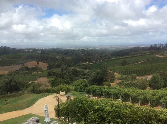 Constantia, Zuid-Afrika: View from the wine tasting room