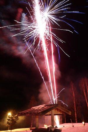 Knappgarden Pension & Restaurant: Impressionen vom Feuerwerk