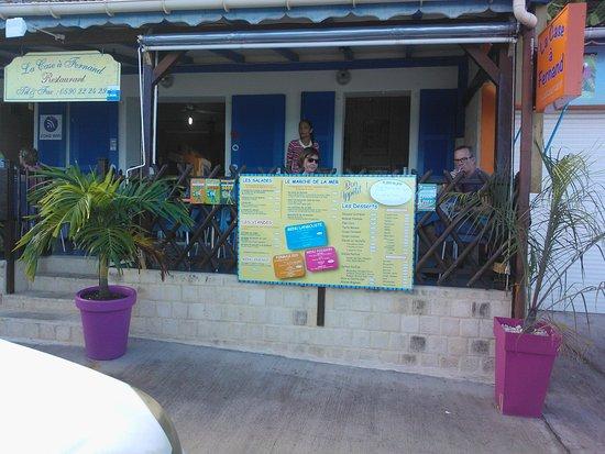 Anse-Bertrand, Guadeloupe: Terrasse vue sur mer