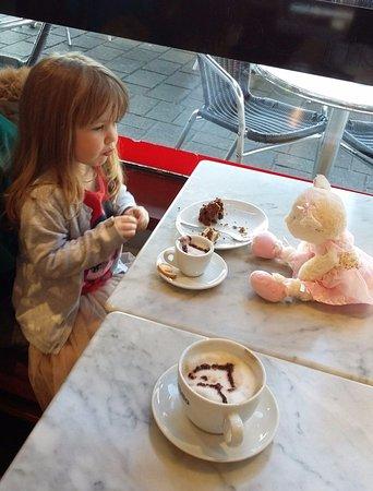 Caffe Corretto: Enjoying our coffee