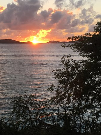 Aqua Bay Villas: Sunset over Frank Bay