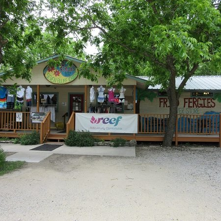 Concan, TX: See us for swim suites, board shorts, sandals, Tee's & much more. Something for the whole family