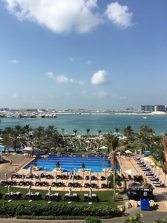 The Westin Dubai Mina Seyahi Beach Resort & Marina: one of the pools, there are child friendly pools and a winding pool as well as the sea