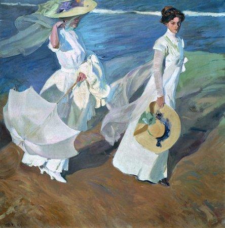 Musée Sorolla : Paseo a orillas del mar, J. Sorolla / Strolling along the Seashore, J. Sorolla