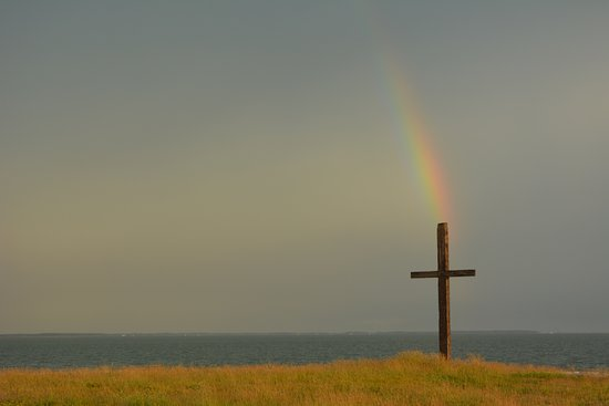 Tilghman, MD: The cross at the end of Black Walnut Point.