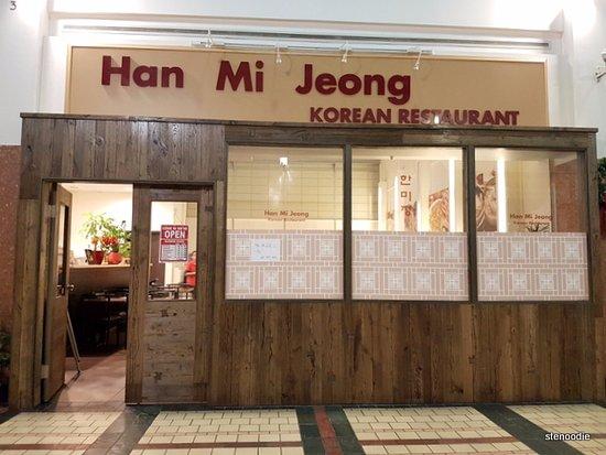Han Mi Jeong: Outside of the restaurant