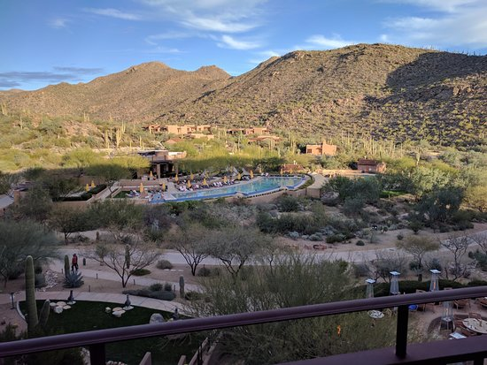 The Ritz-Carlton Dove Mountain: View from our room of the pool and surrounding mountains.