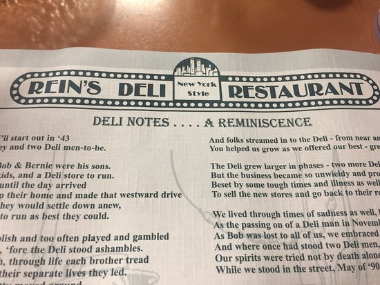 Vernon Rockville, CT: Just stopped at Rein's deli, 2 minutes off 84.