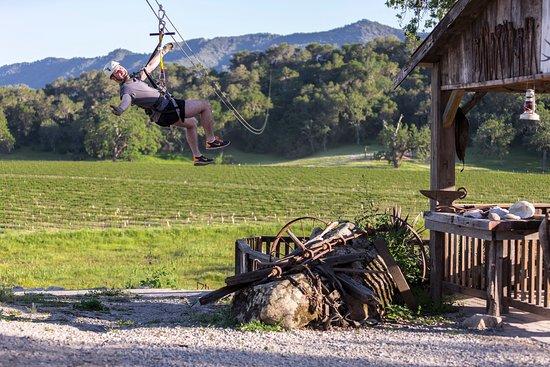 San Luis Obispo County, CA: Ziplining in Santa Margarita