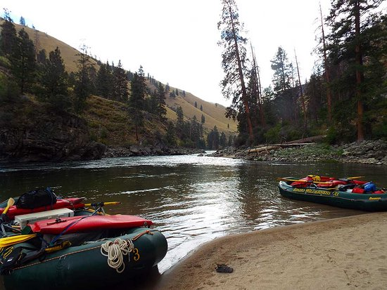Middle Fork of the Salmon River: Shoreline activities are in abundance on the Middle Fork