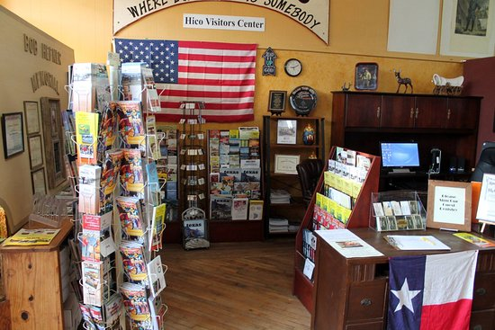 Hico, TX: visitor center located in billy the kid museum