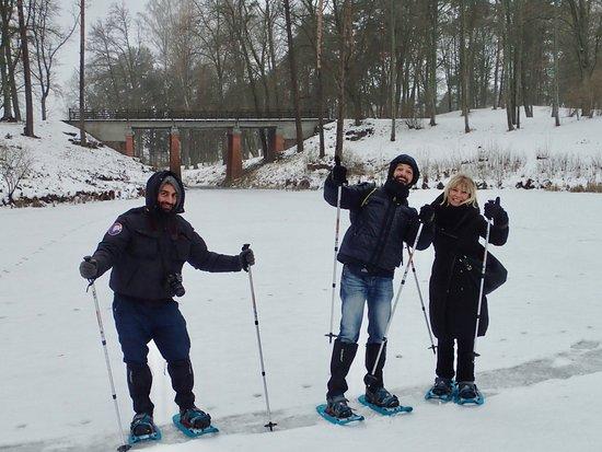 Snowshoe hike in Trakai