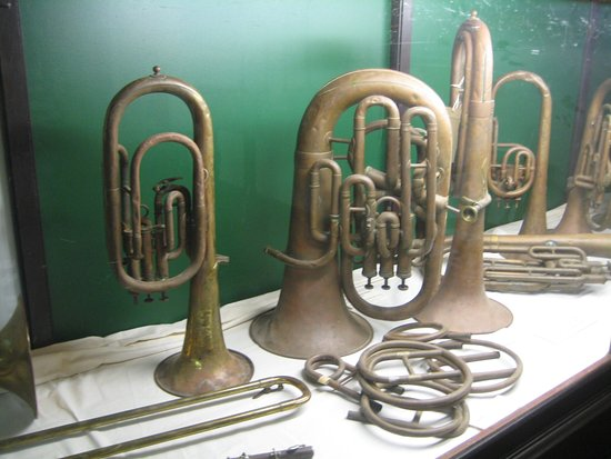 New Norcia Museum & Art Gallery: Instrumenten van de oude fanfare van New Norcia.