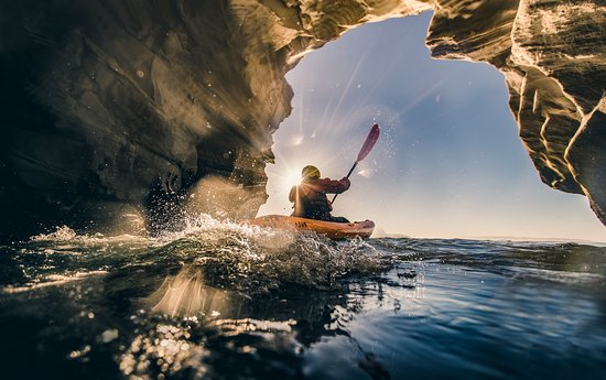 San Luis Obispo County, Kalifornien: Kayaking Dinosaur Caves in Pismo Beach