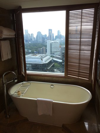 Bathroom With City View Picture Of Conrad Bangkok Tripadvisor
