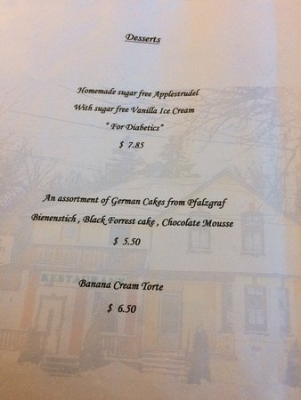 Little Schnitzel House: Dessert Menu