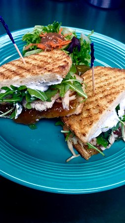 Dish Cafe: Sandwich Special - Turkey, Fig Jam, Goat Cheese and Argula