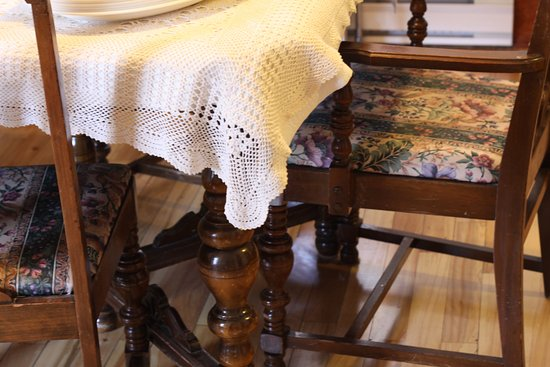 The communal dining room table. - Picture of Le Griffon Bed ...