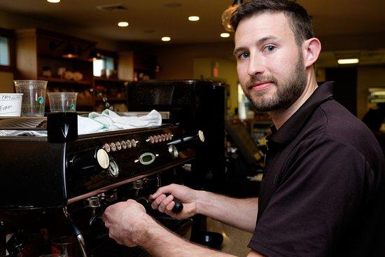 York, ME: Chance the espresso expert!