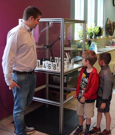 Vernon, Canada: Hudson the Robotic Clock he built at the Okanagan Science Centre.