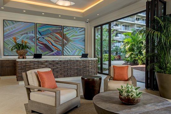 Aston at The Whaler on Kaanapali Beach: Newly completed lobby and setting area