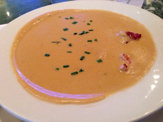 Legal Sea Foods: Lobster bisque and fish 'n chips