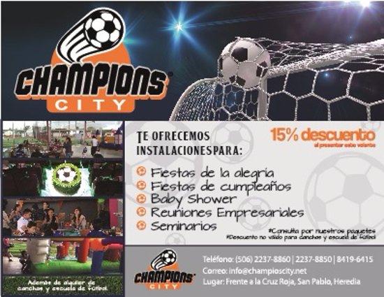 San Pablo, Costa Rica: Imprime este volante y recibirás un descuento en tu evento. (Valido uno por fecha)