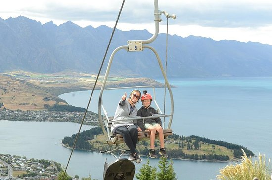 Skyline Queenstown Enjoying The Chair Lift Ride Back To Luge