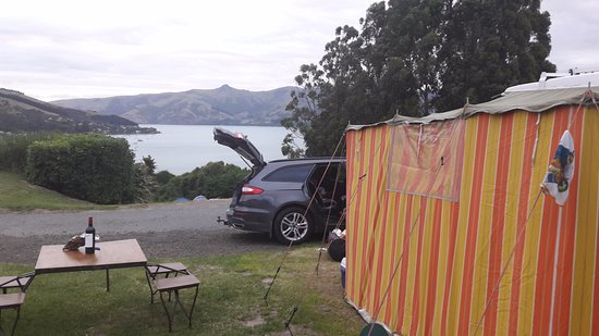 Akaroa TOP 10 Holiday Park: the view from our site
