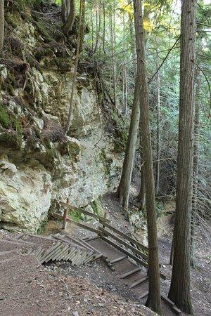 Vernon, Canada: Hike involves some sturdy steps