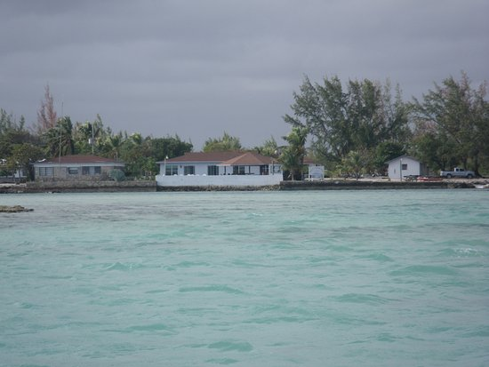 Andros Island Bonefishing Club: The lodge from the water
