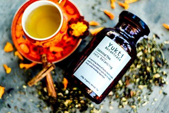 Noosaville, Australia: Certified Organic, Ayurvedic tea blended at Yukti Botanicals.