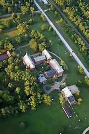 Thee Abbey Kitchen: Ariel view of Arcadia Academy