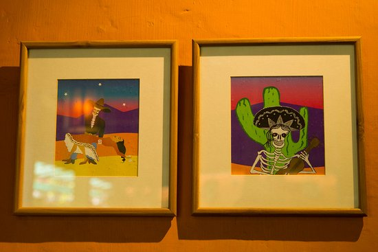 Mexican art festoons the walls of TJ\'s - Picture of TJ\'s Mexican Bar ...