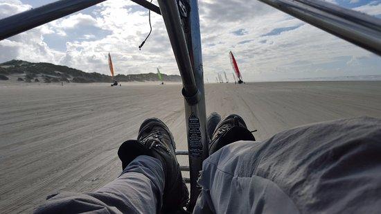 West-Terschelling, Países Bajos: Blokart cockpit view!