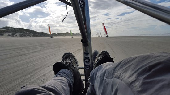 West-Terschelling, Holandia: Blokart cockpit view!