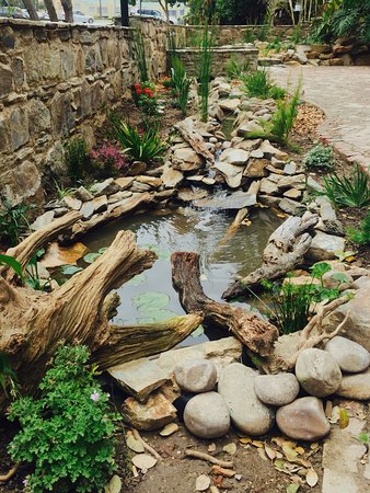 Wilderness, South Africa: Stunning water feature that runs along the historical wall