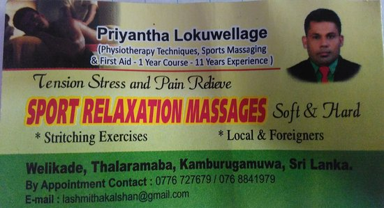 Sport Relaxation Massages - Mirissa
