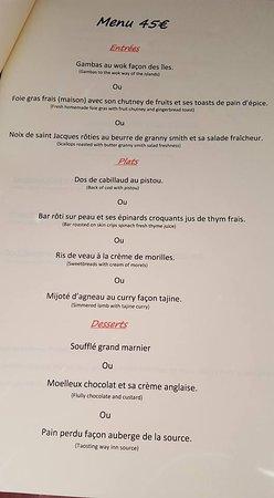 Saint-Cyr-du-Bailleul, France: menu à 45€