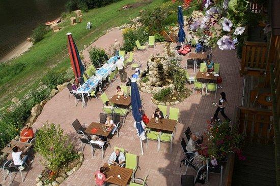 Koenigstein, Germany: gemütliche Elbterrasse
