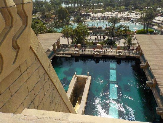 Aquaventure Waterpark View From At The Top Of Shark Tank Water Slide Atlantis