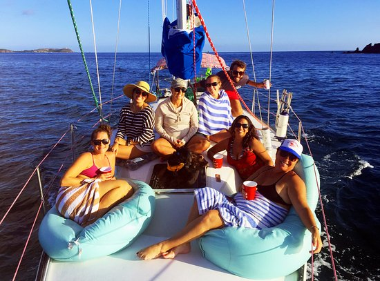 Happy Island Charters: Enjoy Our Bean Bag Chairs On The Foredeck!