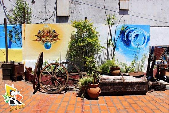 Homstel Soleil : Detalles de la terraza II