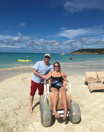 Sandals Grande Antigua Resort Spa Beach Wheelchair