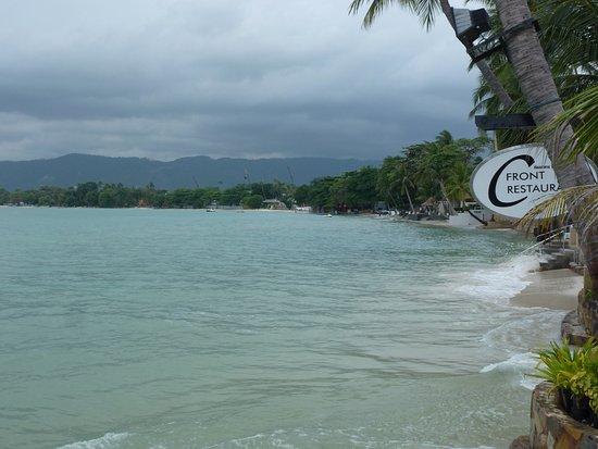 Chaba Cabana Beach Resort: Uitzicht op zee en klein strand vanaf terras